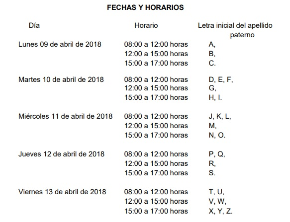 Calendario Convocatoria BUAP